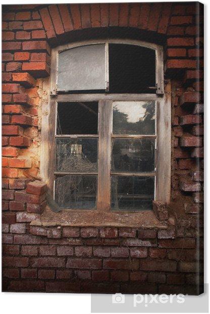 Tableau sur toile Fenêtre de brique ancienne - Propriétés privées