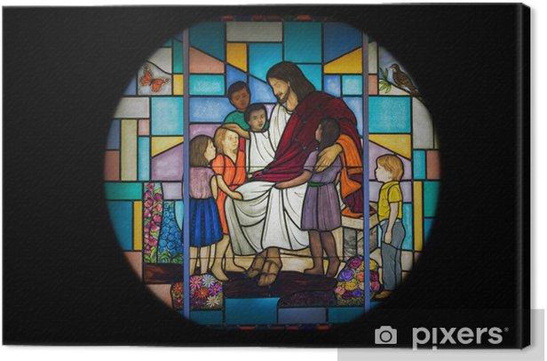 Tableau sur toile Fenêtre de l'église - Art et création