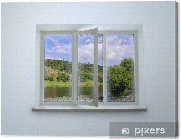 Tableau sur toile Fenêtre - Thèmes