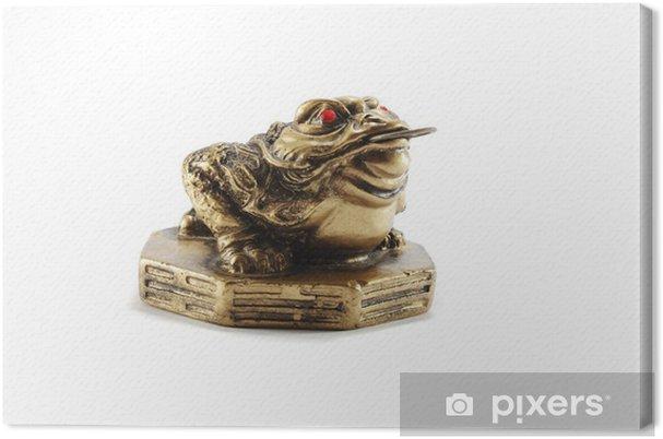 Tableau sur toile Feng Shui Chinois argent grenouille, ou Chan Chu - symbole de la richesse - Esotérisme