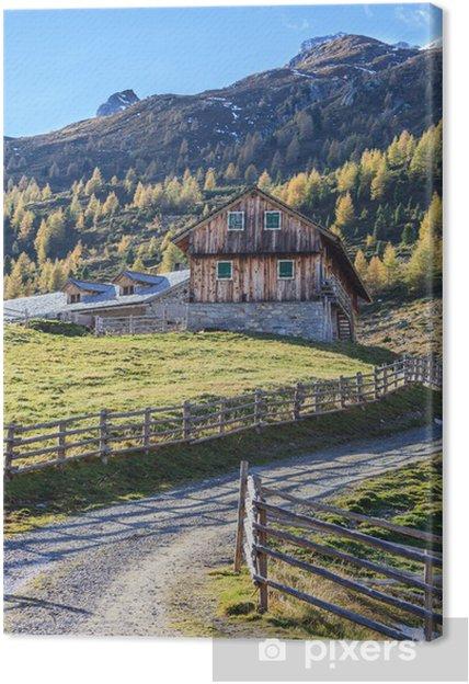 Tableau sur toile Ferme d'alpage vieux - Europe