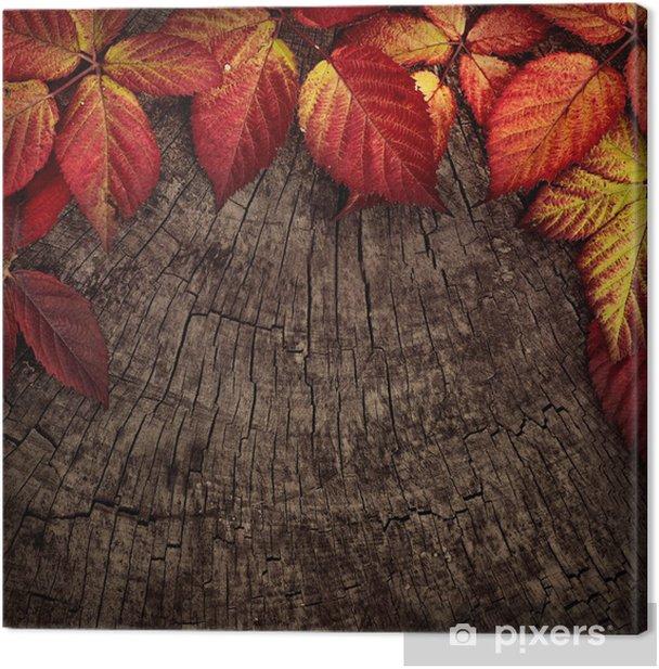 Tableau sur toile Feuilles d'automne - Thèmes