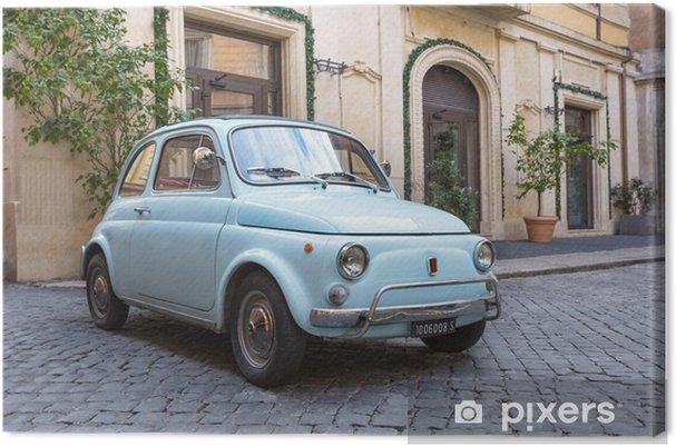 Tableau sur toile Fiat 500 dans les Rues de Rome - iStaging