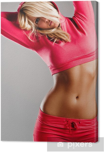 Fille Fitness Photo tableau sur toile fille fitness • pixers® - nous vivons pour changer