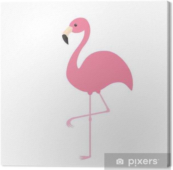 Tableau Sur Toile Flamant Rose Oiseau Tropical Exotique Collection Danimaux Zoo Personnage De Dessin Animé Mignon élément De Décoration Design