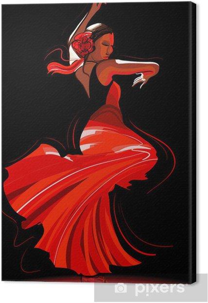 Tableau Sur Toile Flamenco Danseuse Pixers Nous Vivons Pour Changer