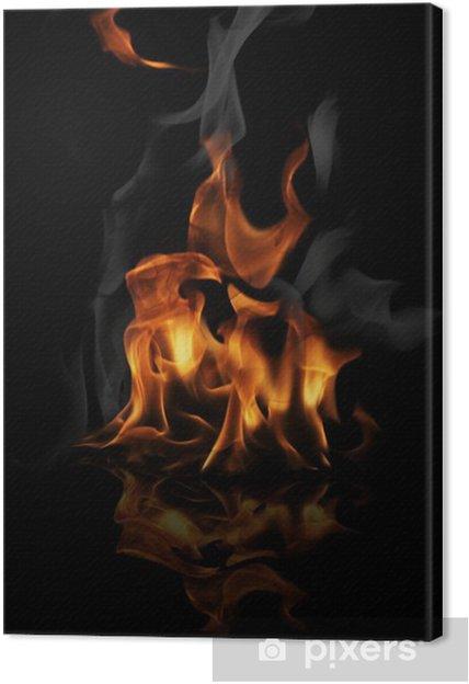 Tableau sur toile Flamme pompier - Catastrophes naturelles
