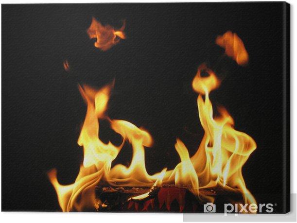 Tableau sur toile Flammen - Textures