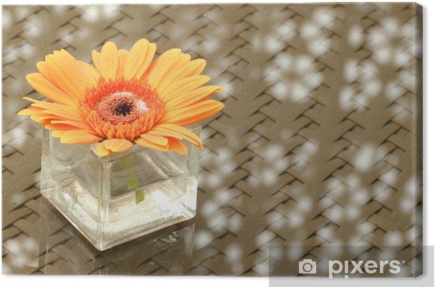 Tableau sur toile Fleur d'oranger de gerbera dans un vase - Fleurs