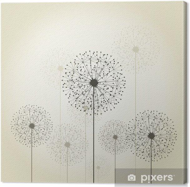 Tableau sur toile Fleur de pissenlit - Thèmes