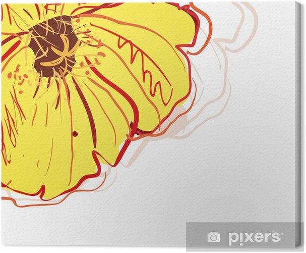 Tableau sur toile Fleur jaune - Fleurs