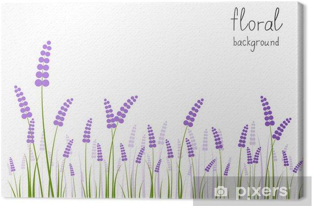 Tableau sur toile Fleurs de lavande sur fond blanc - Saisons