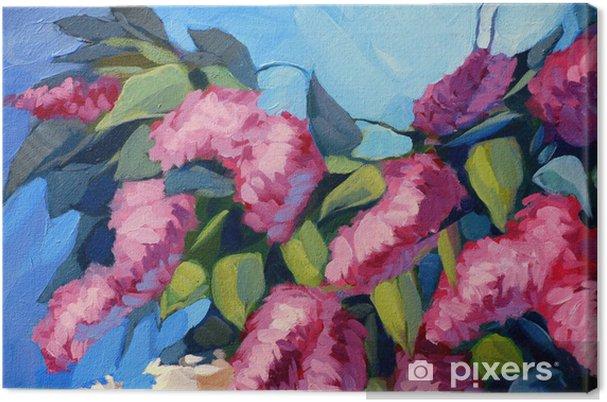 Tableau sur toile Fleurs de lilas, peinture à l'huile sur toile, illustration - Art et création