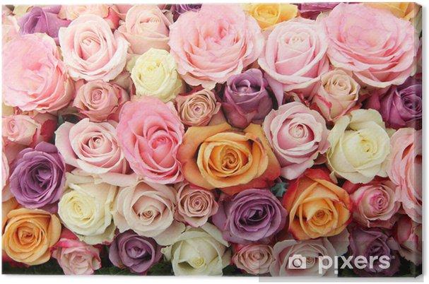 Tableau sur toile Fleurs de mariée dans les tons pastel - Célébrations