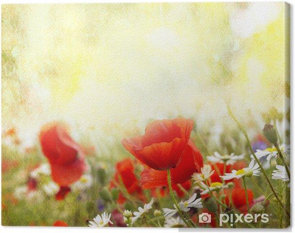 Tableau sur toile Fleurs de pavot - Thèmes