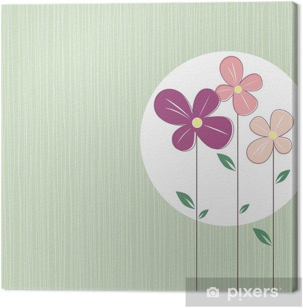 Tableau sur toile Fleurs de printemps mignon - Arrière plans