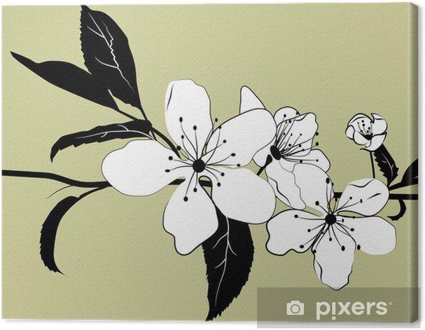 Tableau sur toile Floraison branche de cerisier - Arbres