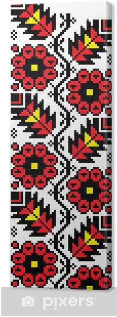 Tableau sur toile Floral_crossStitch - Fleurs