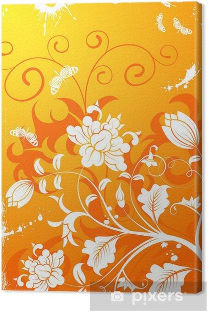Tableau sur toile Floral frame - Arrière plans