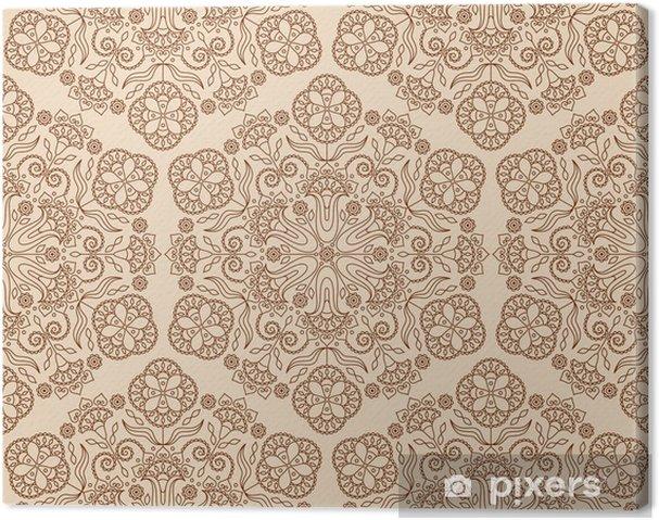 Tableau sur toile Floral pattern - Asie