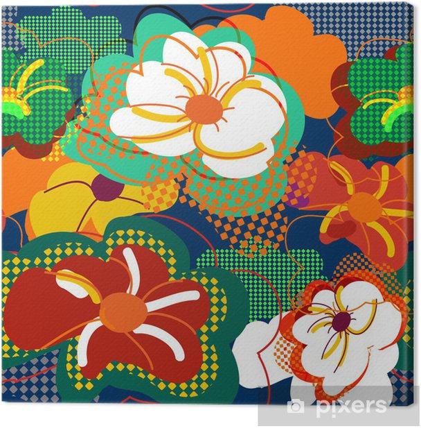 Tableau sur toile Floral pattern - Arrière plans