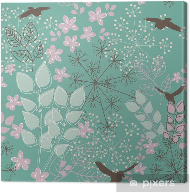 Tableau sur toile Floral seamless pattern - Textures