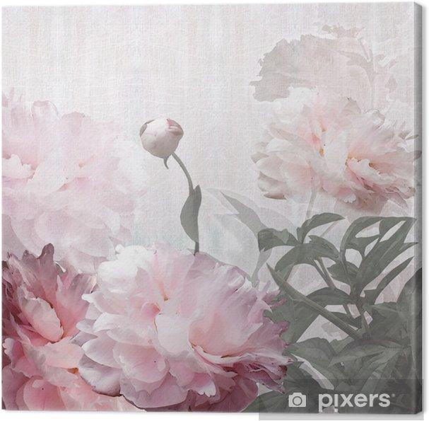 Tableau sur toile Florales de pivoines de conception - Styles