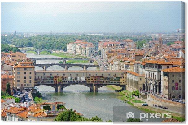 Tableau sur toile Florence Old Bridge mit 2 - Europe