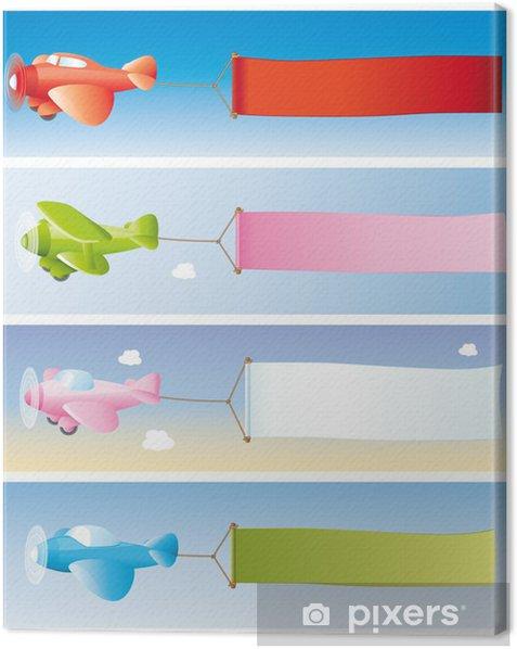 Tableau sur toile Flugzeugwerbung - Vente