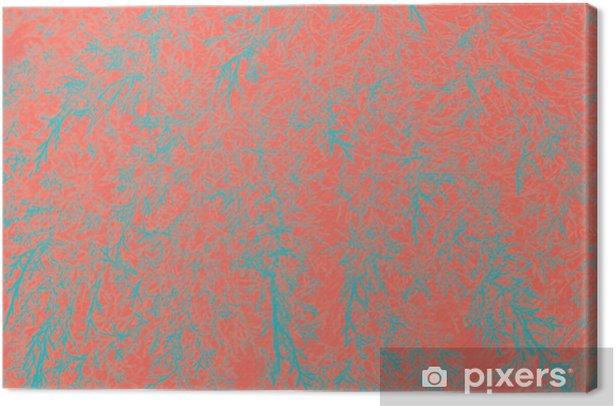 Tableau sur toile Fond abstrait de feuilles naturelles. corail vivant couleur créative et de mauvaise humeur de l'image. - Ressources graphiques