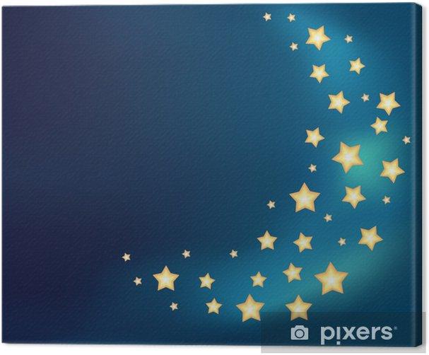 Tableau sur toile Fond avec une lune en étoiles brillantes cartoon - Arrière plans