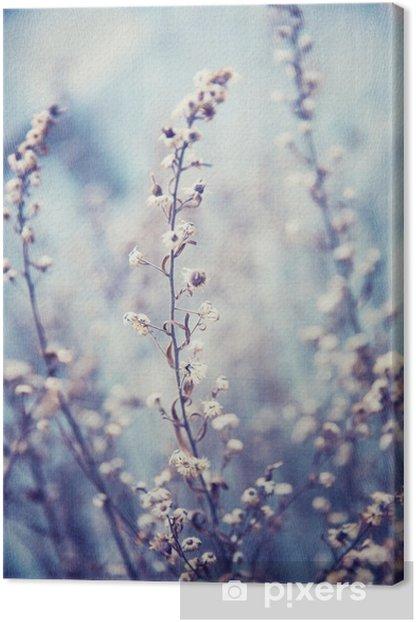 Tableau sur toile Fond Bleu Floral - Textures