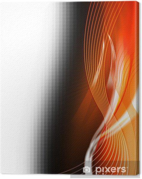 Tableau sur toile Fond de couleur web orange - Signes et symboles