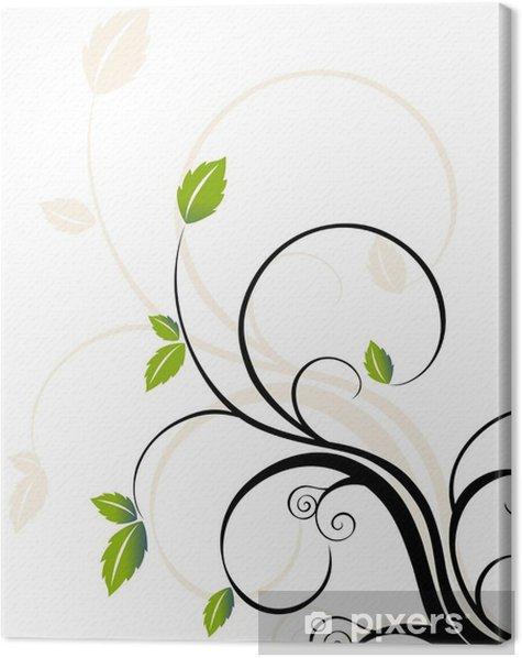 Tableau sur toile Fond de fleur abstraite - Plantes et fleurs