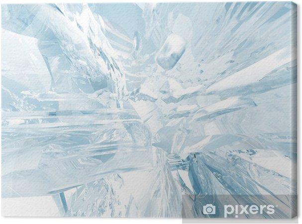 Tableau sur toile Fond de glace - Saisons