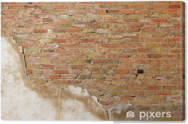 Tableau sur toile Fond de texture de mur d'un vieux mur de la section - Industrie lourde