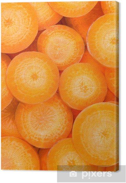 Tableau sur toile Fond de tranches de carottes - Thèmes