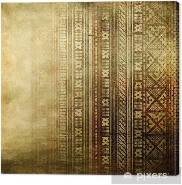Tableau sur toile Fond doré vintage avec ornement africain - Styles