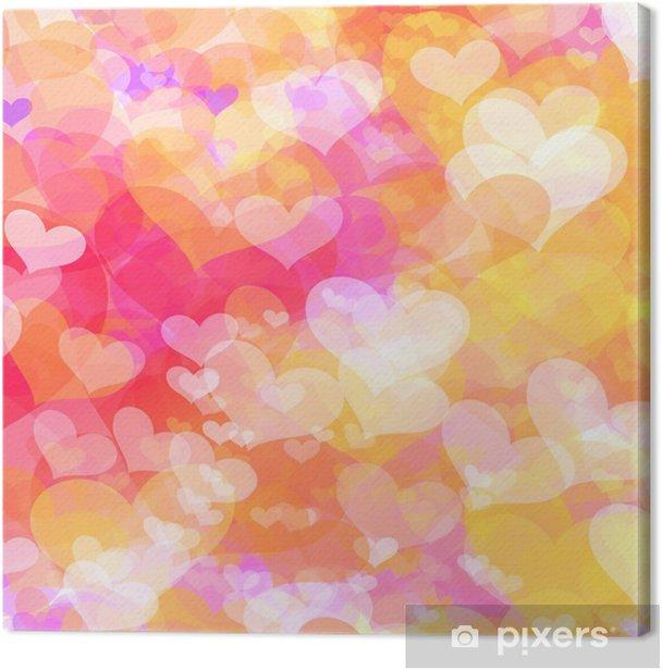 Tableau sur toile Fond du jour de Valentine avec des coeurs - Arrière plans