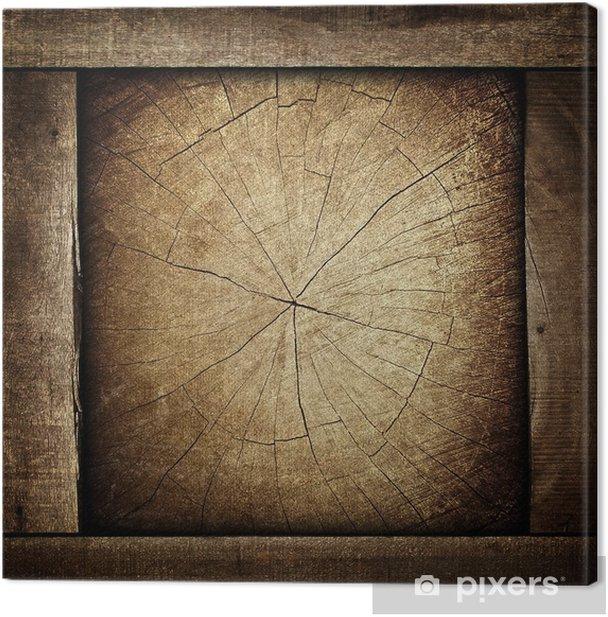 Tableau sur toile Fond en bois - Industrie lourde