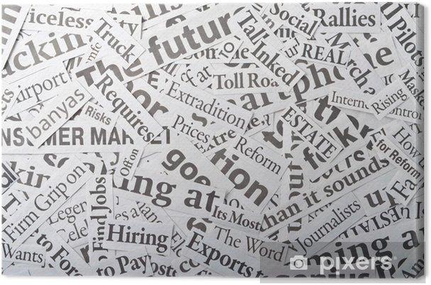 Tableau sur toile Fond, faite de coupures de journaux - Vente
