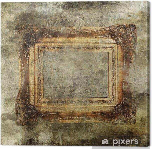 Tableau sur toile Fond grunge et encadrement doré - Arrière plans