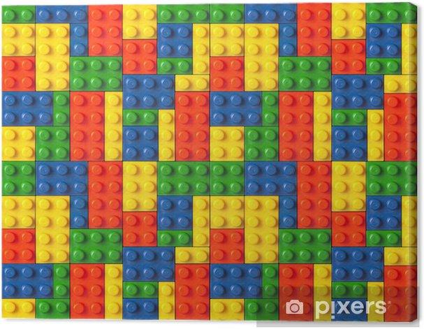 Tableau sur toile Fond Lego - Destin