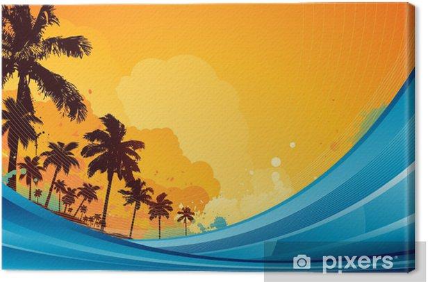 Tableau sur toile Fond tropical d'été - Saisons