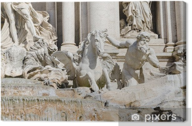 Tableau sur toile Fontaine de Trevi. Rome, Italie - Villes européennes