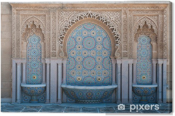Tableau sur toile Fontaines au carrelage marocain - Afrique