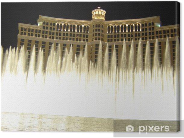Tableau sur toile Fontaines du Bellagio, Las Vegas - Las Vegas