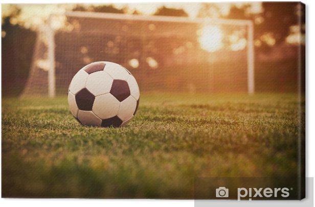 Tableau sur toile Football coucher du soleil - Thèmes