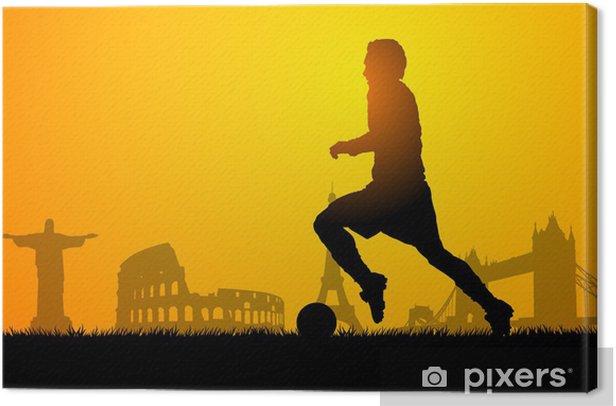 Tableau sur toile Football dans le monde - Sports collectifs