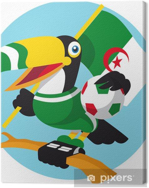 Tableau sur toile Football mascotte - Matchs et compétition